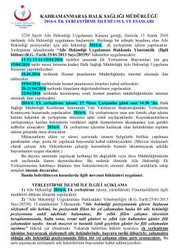 Kahramanmaraş Halk Sağlığı Müdürlüğü