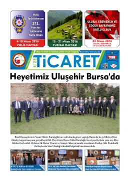 Heyetimiz Uluşehir Bursa`da - Rize Ticaret ve Sanayi Odası