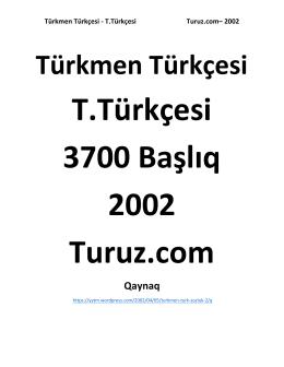 Türkmen Türkçesi