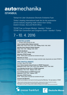 TÜYAP Fuar ve Kongre Merkezi İstanbul / Türkiye TÜYAP Fair