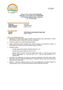 Gıda, Tarım ve Hayvancılık Bakanlığı Balıkçılık ve Su Ürünleri Genel