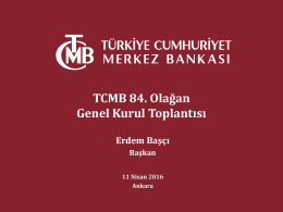 Sunum - TCMB