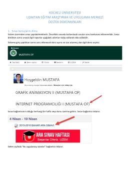 Sınav Sonuçlarını Alma - U.Z.E.M.