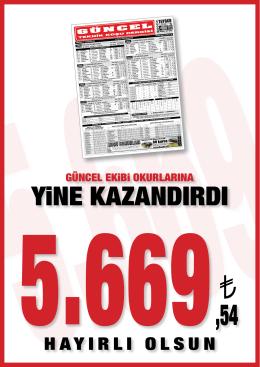 YiNE KAZANDIRDI - liderform.com.tr