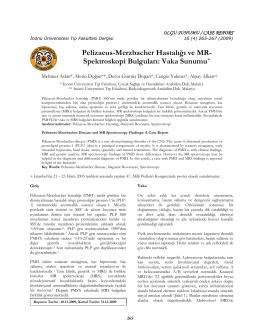Pelizaeus-Merzbacher Hastalığı ve MR