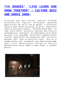TED KAYSERİ KOLEJİ İNGİLİZCE ÖĞRETMENLERİMİZ 3. ELT
