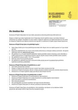 Ofis Gönüllüsü Olun - Uluslararası Af Örgütü Türkiye Şubesi