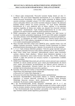 devlet hava meydanları işletmesi genel müdürlüğü 2016/1 sayılı