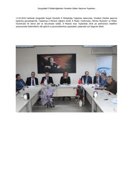 Zonguldak İl Müdürlüğünden Yönetimi Göden Geçirme