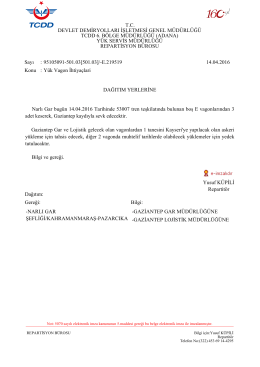 14.04.2016 - Devlet Demir Yollari 6.Bölge