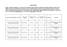 Sınav Komisyonu Ön Değerlendirme Raporu