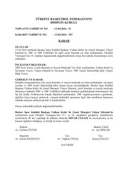 karar 293 volkan kebir ve yalçın edremit hakkında