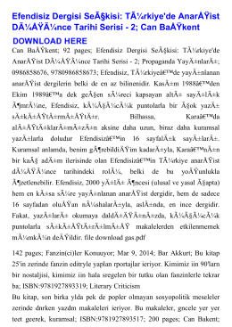 Efendisiz Dergisi Seçkisi: Türkiye`de Anarşist
