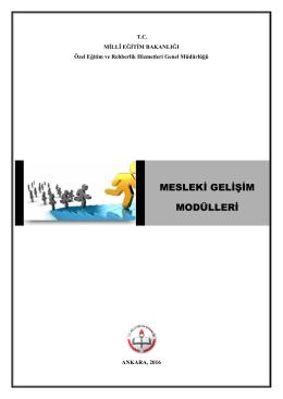 mesleki gelişim modülleri - Özel Eğitim ve Rehberlik Hizmetleri