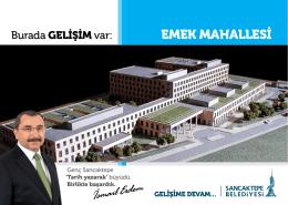 emek mahallesi - Sancaktepe Belediyesi