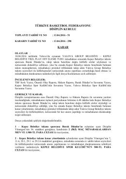 karar 298 yalova group belediye – kepez belediye tb2l play off