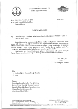 "Fatih projesi Etkilegimli Srnrf Ydnetimi Kursu (uzaktan efitim)""na Vali"
