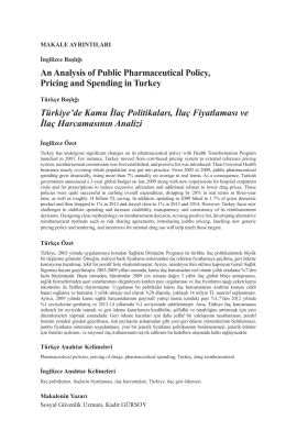 An Analysis of Public Pharmaceutical Policy, Pricing and