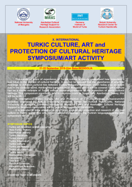 TURKIC CULTURE, ART and PROTECTION OF CULTURAL