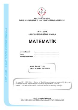 matematik - Ölçme, Değerlendirme ve Sınav Hizmetleri Genel