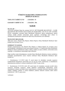 karar 296 hatay büyükşehir belediyesi – canik belediyesi