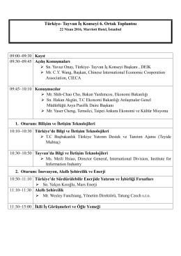 Türkiye- Tayvan İş Konseyi 6. Ortak Toplantısı
