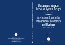 Print this article - Uluslararası Yönetim İktisat ve İşletme Dergisi
