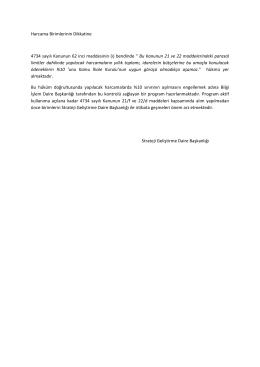 Harcama Birimlerinin Dikkatine 4734 sayılı Kanunun 62 inci