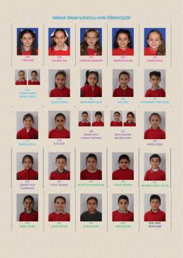 mimar sinan ilkokulu ayın öğrencileri