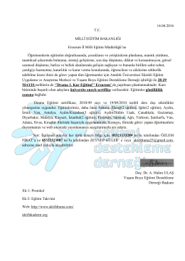 14.04.2016 TC MĠLLÎ EĞĠTĠM BAKANLIĞI Erzurum Ġl Milli Eğitim