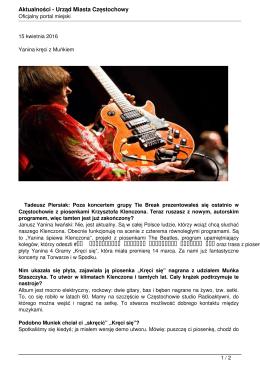 PDF - Urząd Miasta Częstochowy