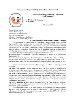 Stowarzyszenie - ZSP5 Żory – Baranowice