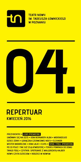 Pobierz repertuar - Teatr Nowy w Poznaniu