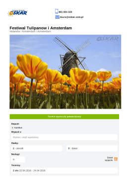 Festiwal Tulipanow i Amsterdam