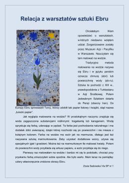 Relacja z warsztatów sztuki Ebru