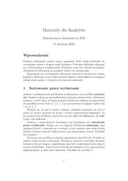 materiałów przygotowawczych - Malachoviacus Informaticus
