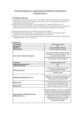 Audyty energetyczne dla budynków A,B,C