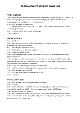 program święta dominika sawio 2016