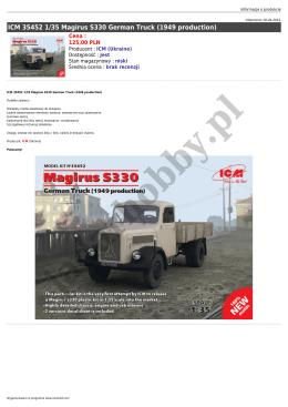 ICM 35452 1/35 Magirus S330 German Truck (1949