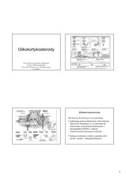 Glikokortykosteroidy2016 - Katedra i Zakład Farmakologii UMP