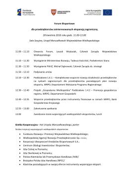 Forum Eksportowe dla przedsiębiorców