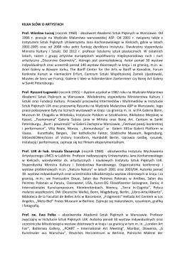Biogramy artystów - Muzeum Narodowe w Kielcach