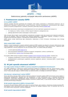 eESPD – FAQ