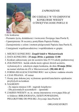 szczegóły konkursu - Zespół Szkół w Mściszewicach