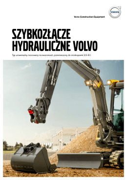 Volvo Brochure Compact Excavator Hydraulic Quick Coupler Polish