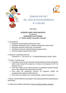 Regulamin - Gimnazjum nr 7 w Lublinie