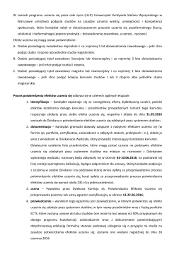 Informacja ogólna - Uniwersytet Kardynała Stefana Wyszyńskiego w