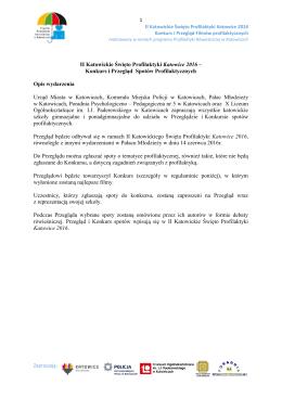 II Katowickie Święto Profilaktyki Katowice 2016