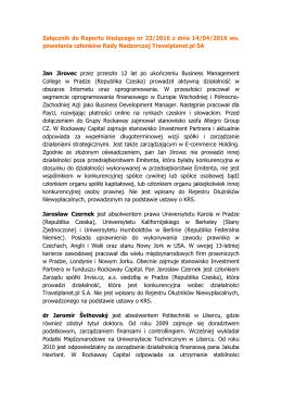 Załącznik do Raportu bieżącego nr 23/2016 z dnia 14/04