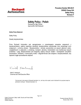 Safety Policy - Polish